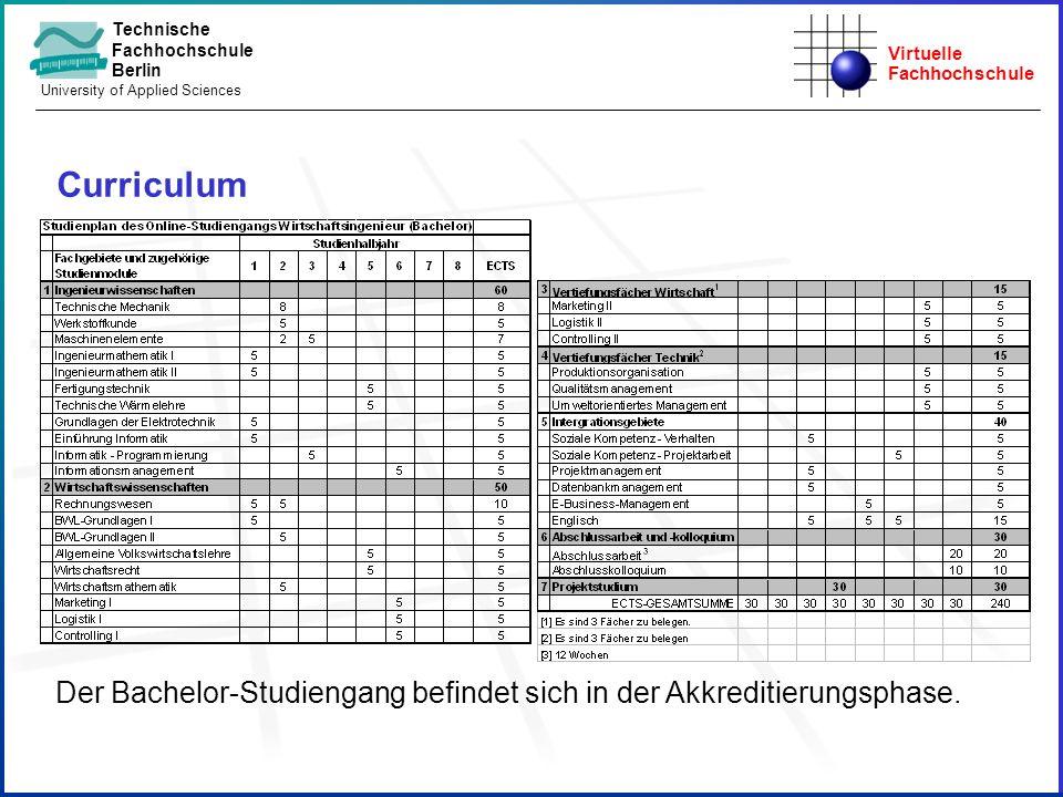 Curriculum Der Bachelor-Studiengang befindet sich in der Akkreditierungsphase. [1] Es sind 3 Fächer zu belegen.